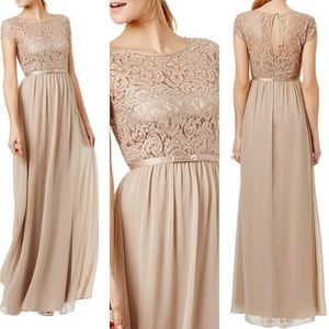 Beige Formal/Semi Formal Long Maxi Dress